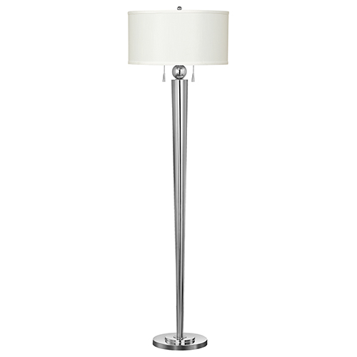 Messina Chrome Two-Light Floor Lamp