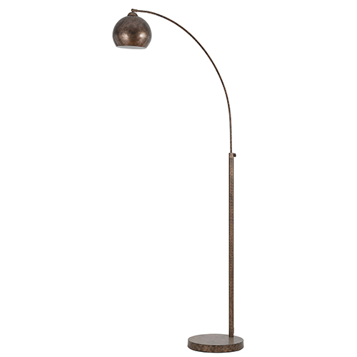 Cal Lighting Metal Arc Rust One Light Floor Lamp