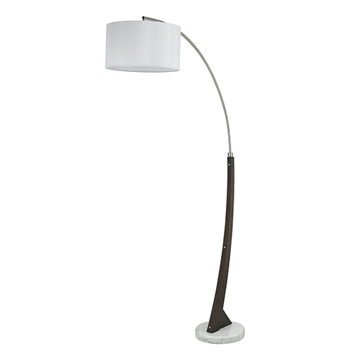 Metal Arc Brushed steel One-Light Arc Floor Lamp