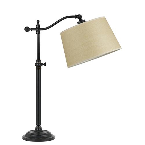 Cal Lighting Wilmington Dark Bronze One-Light Table Lamp