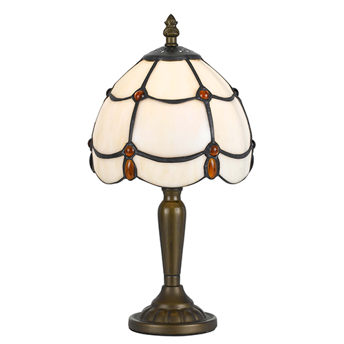 Tiffany Antique Brass One-Light Table Lamp
