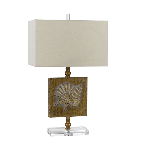 Coastal Saddle Brown One-Light Table Lamp