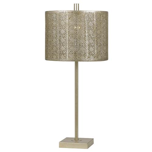 Cal Lighting Falfurrias Warm Silver One-Light Table Lamp