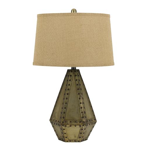 Cuero Antique Gold One-Light Table Lamp