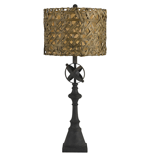Deming Black One-Light Buffet Lamp