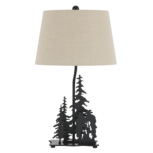Cal Lighting Cowboy Dark Bronze One-Light Table Lamp