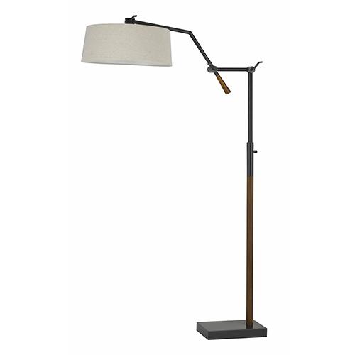 Cal Lighting Aroka Dark Bronze One-Light Floor Lamp