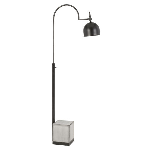 Beaumont Gray and Black One-Light Floor lamp