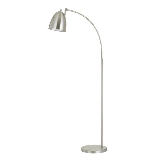 Cal Lighting Garnett Brushed Steel One-Light Arc Floor Lamp