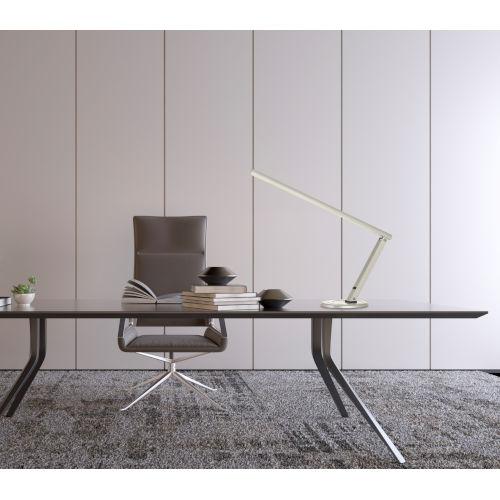 Savona Satin Nickel LED Desk Lamp