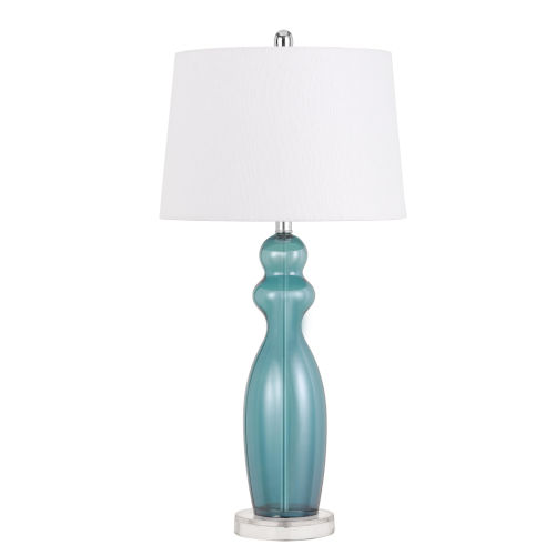 Bristol Aqua and White One-Light Table Lamp