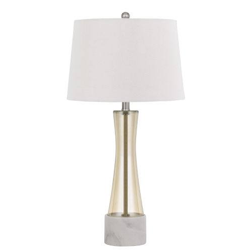 Cabra Amber and White One-Light Table Lamp