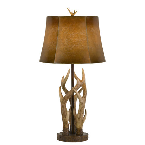 Darby Bronze and Natural One-Light Table Lamp