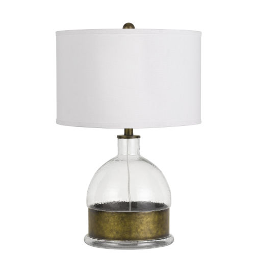 Rapallo Clear and Antiqued Brass One-Light Table Lamp