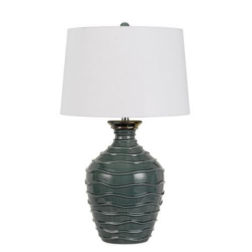 Oristano Teal and White One-Light Table Lamp