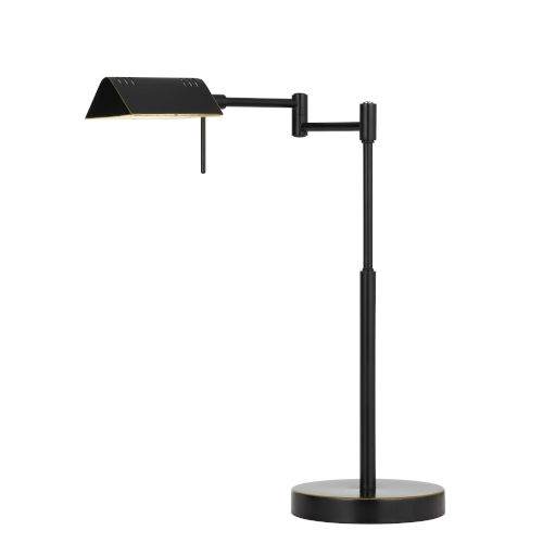 Clemson Dark Bronze Integrated LED Desk Lamp