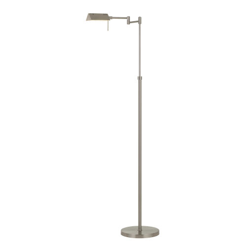 Clemson Brushed Steel Integrated LED Floor lamp