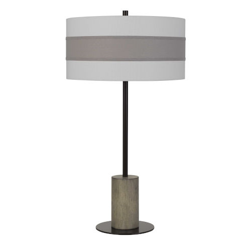 Jumilla Gray and Black One-Light Table lamp