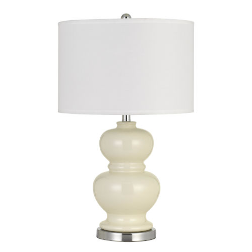 Bergamo Ivory White One-Light Table lamp