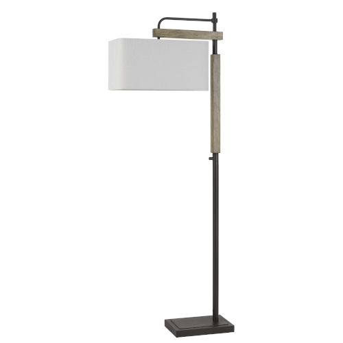 Alloa Bronze and Natural One-Light Floor lamp