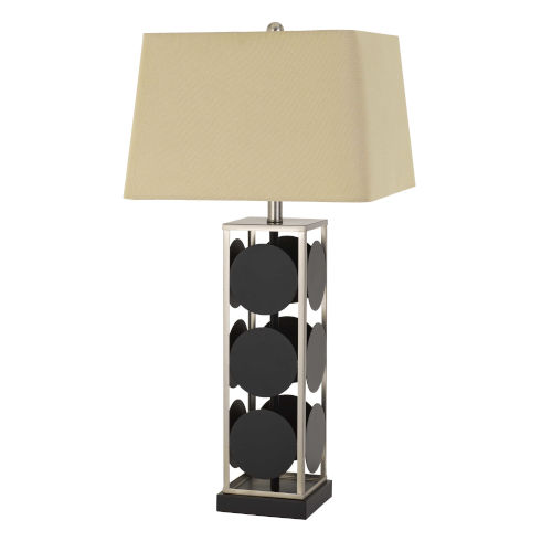 Hanson Black and Antique Silver One-Light Table lamp