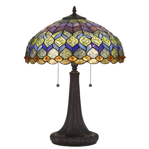 Tiffany Dark Bronze 23-Inch Two-Light Table lamp