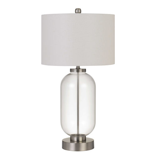 Sycamore Brushed Steel and Clear One-Light Table lamp