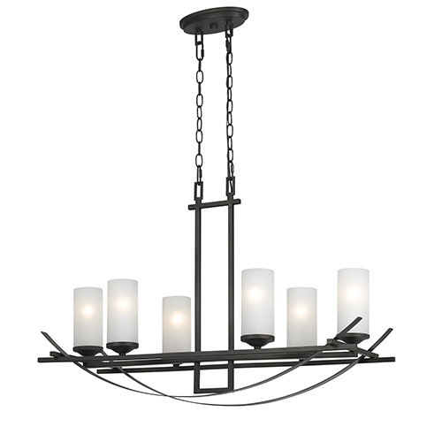 Caldwell Organic Black Six-Light Chandelier