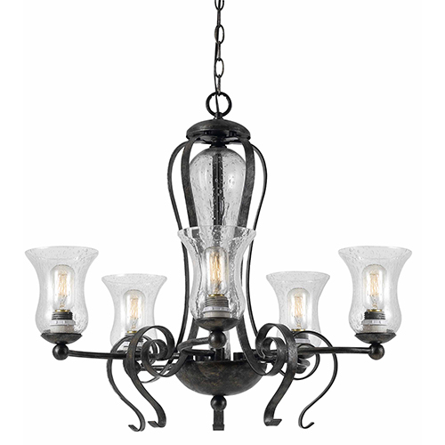Cal Lighting Metal Eternity Five-Light Chandelier