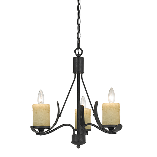 Cal Lighting Morelis Blacksmith Three-Light Chandelier