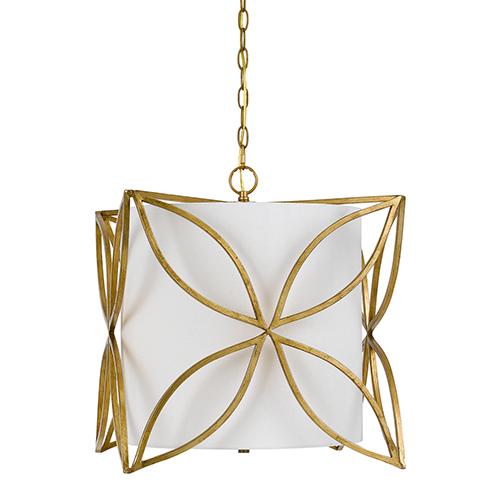 Belton French Gold Three-Light Pendant