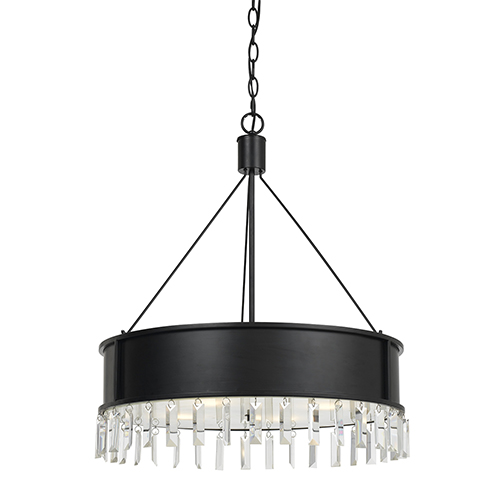 Roby Iron Four-Light Chandelier