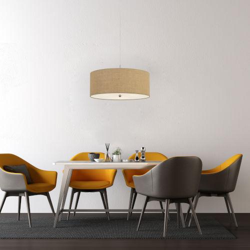 Addison Burlap Three-Light Pendant