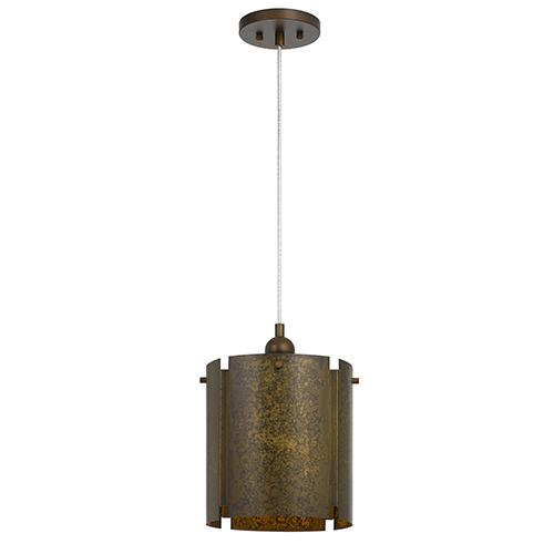 Cal Lighting Rochefort Distressed Gold One-Light Pendant