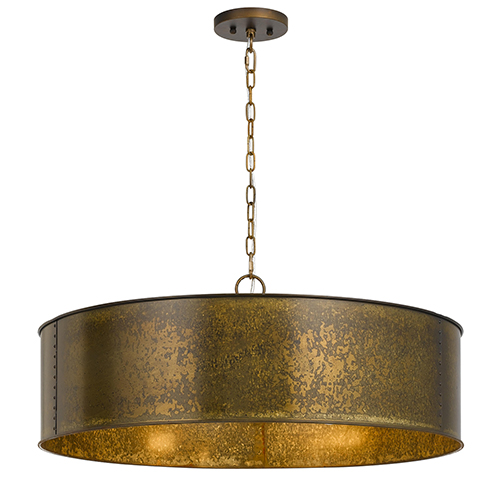 Rochefort Distressed Gold Five-Light Pendant