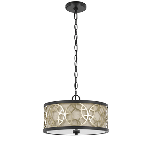 Cal Lighting Rust and Antique Brass Two-Light Pendant