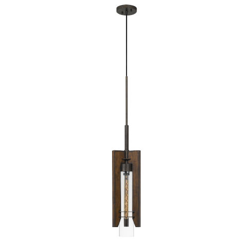 Almeria Pine and Iron One-Light Mini Pendant