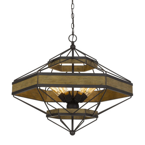 Alicante Gray and Black Six-Light Chandelier
