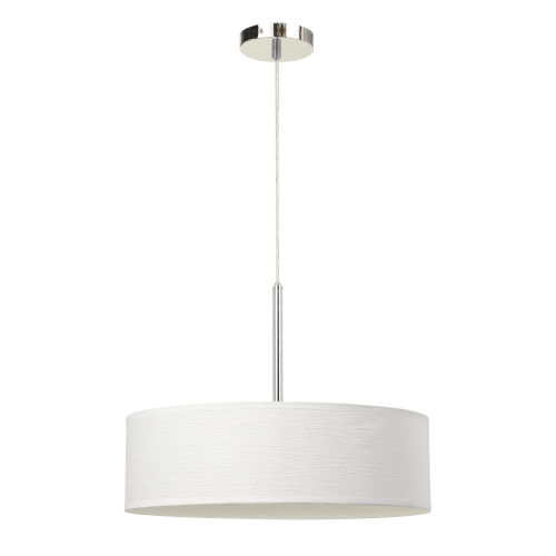White and Chrome LED Pendant