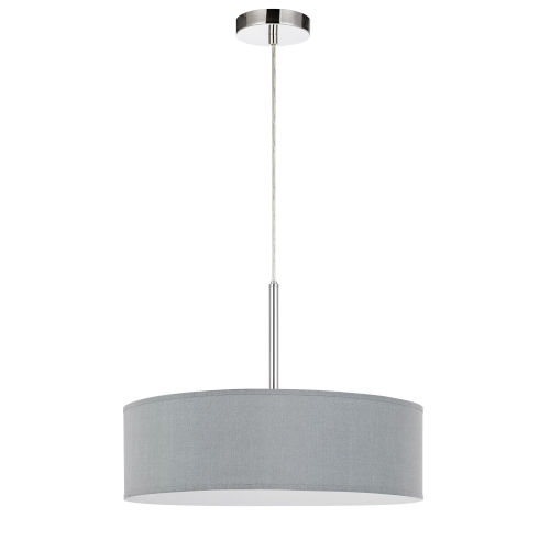 Gray and Chrome LED Pendant