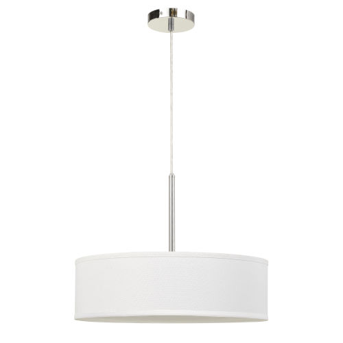 Off White and Chrome LED Pendant