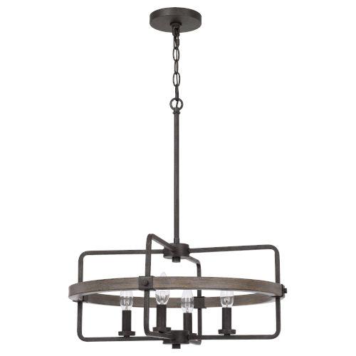 Rawlins Black Smith Four-Light LED Chandelier