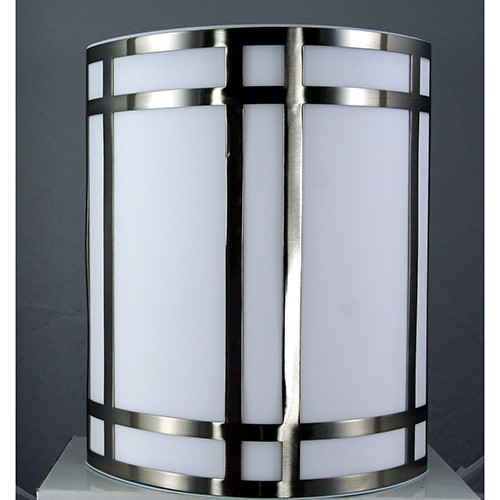 Cal Lighting Brushed Steel Nine-Inch One-Light Wall Sconce