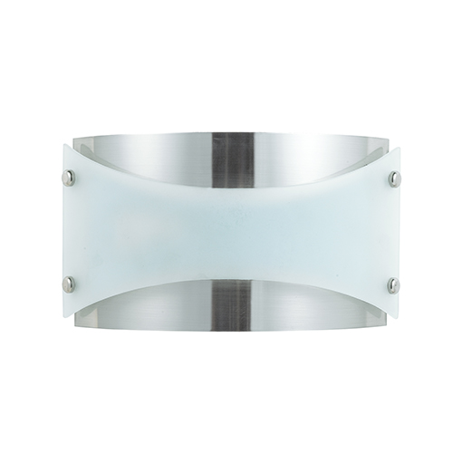 Cal Lighting Brushed Steel 13-Inch One-Light Wall Sconce