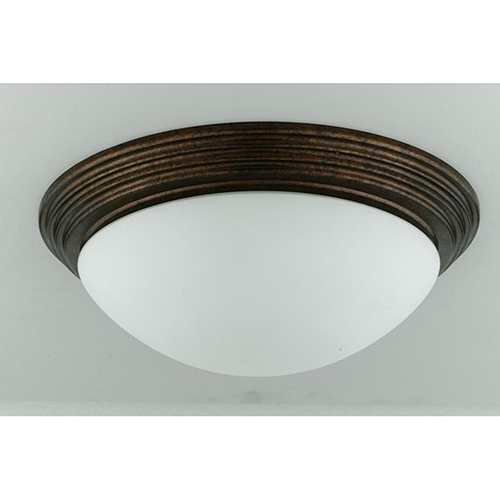 Cal Lighting Rust Two-Light Flush Mount