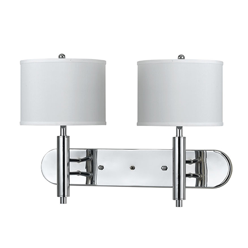 Cal Lighting Chrome 11-Inch Two-Light Wall Sconce