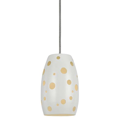 Cal Lighting White One-Light Mini Pendant