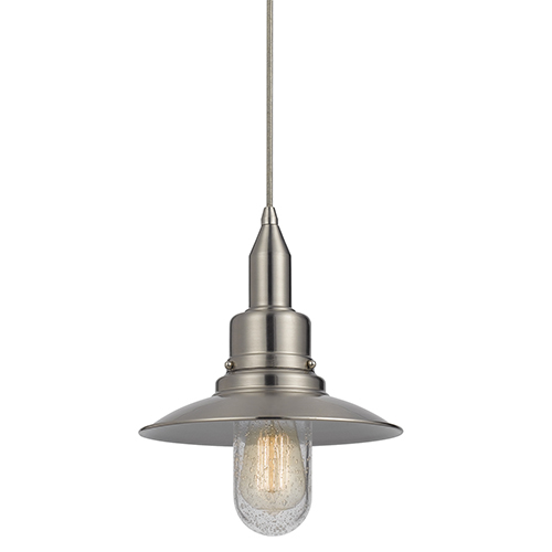 Cal Lighting Allentown Rust One-Light Pendant