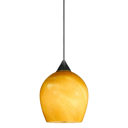 Brushed Steel One-Light Mini Pendant