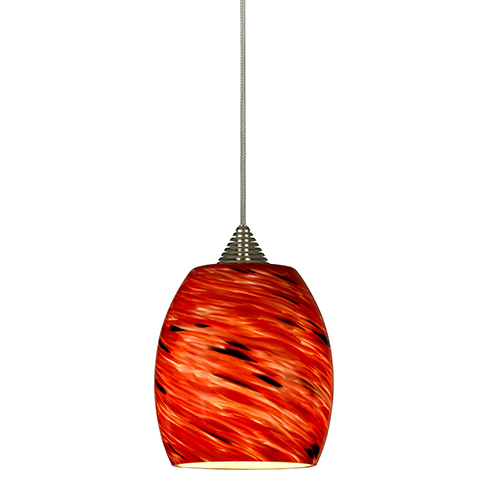 Cal Lighting Rust One-Light Mini Pendant